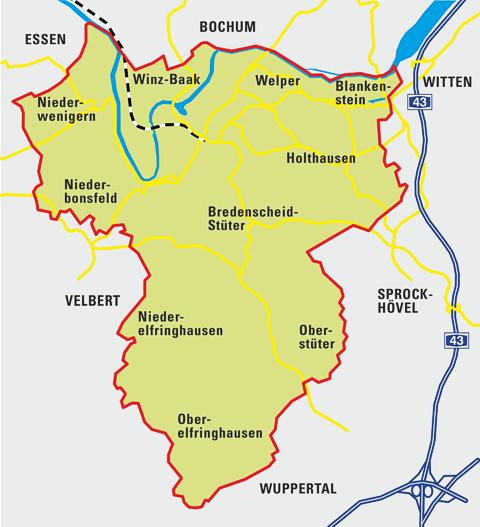 Anreise Stadt Hattingen